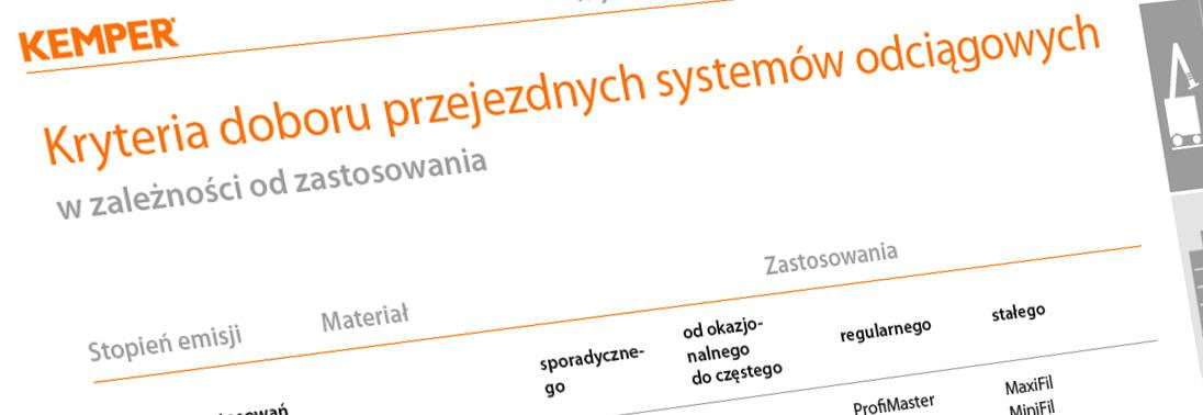 kryteria doboru przejezdnych systemów odciągowych